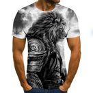 Snow Tiger short sleeve Mens Tee - TXU-1546 / XXXL