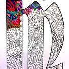 Letter M Coloring Page - Inspired by the font