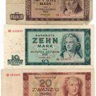 DDR-Bildarchiv: Berlin - Banknoten der Mark der DDR Ausgabe 1964