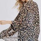 Chiffon Leopard Kimono   S/M