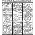 The Fruit of the Spirit  coloring page in three sizes: 8.5X11 | Etsy