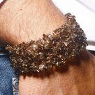 AAA  Smoky Quartz Chip Stretch Bracelet - Grounding Stone, Positive Energy - Relieve Stress - New Ag