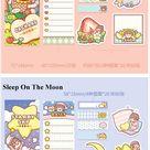 4 types,little rice cake series sticky note,cartoonish,kawaii,kids gift,student stationery,journalin