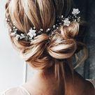 Bridal hair vinewedding hair accessoriesboho floral hair | Etsy