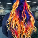This 'Blue Phoenix' Dye Job Seamlessly Combines Fire and Ice Hair Colors