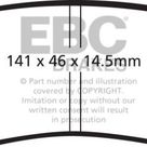 EBC 06 09 Buick Lucerne 3.8 Yellowstuff Rear Brake Pads