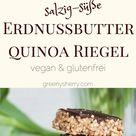 Salzig-süße Erdnussbutter Quinoa Riegel mit Schokolade (vegan &glutenfrei) - Greeny Sherry - Vegane Rezepte & grün(er)leben   vegan food & life
