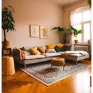 cozy living room warm home decor