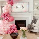 Pink Balloon Arch Ideas For Girl'S 2Rd Birthday