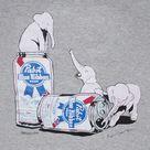 PABST BLUE RIBBON BEER éléphants tee-shirt Homme Noir