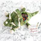 Dinosaur Birthday Decorations Coloring Table Runner | Etsy