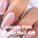 Lovely Pink Color Nail Art Designs