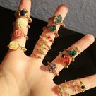 handmade wire wrapped rings. #vsco #rings #handcandies #artisanjewelry