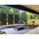 Privacy Screen Metal Garden Fence Topper Decor Art  Abstract3 | Etsy