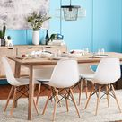 Walnew Pre-Assembled Mid Century Modern Dining Chairs, Set of 4, Multiple Colors