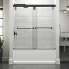 Delta Lyndall 60 In. X 59-1/4 In. Mod Semi-Frameless Sliding Bathtub Door In Bronze & 3/8 In. (10Mm) Clear Glass in Brown, Size 58.1103 H in Wayfair