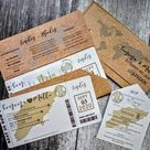 Foil Boarding Pass Invite. Beach Wedding Invitation. | Etsy