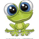 Cute Cartoon Frosch einzeln auf weißem Hintergrund Stock Vektorgrafik Lizenzfrei 1702795648