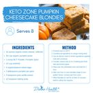🍁 Looking for a sweet fall treat that is keto friendly? Look no further! Try our Keto Zone® Pumpkin Cheesecake Blondies! They pair perfectly with a cup of keto coffee and can be eaten at any time of day. ☕️ 🍽 With healthy fat from MCT Oil Powder, these tasty treats are sure to keep you full and craving-free for hours. Made with a base of pumpkin puree, this recipe is loaded with vitamins, minerals, and fiber, while still being relatively low-carb and keto-friendly. This recipe proves that heal