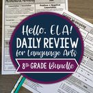 ELA Daily Review 8th Grade Bundle | Distance Learning | Google Slides and Forms