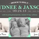 Twin Birth Announcements