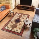 rustic rugs for living room 4x7 rug 4'6