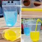 Kids Drink Pouches Personalized, Kids Drink Cups, Reusable Drink Pouches for Kids, Kids Party Favors, Drink Bags, Kids Water Bottles