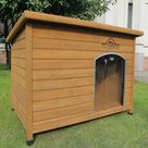 Extra Large Insulated Wooden Dog Kennel With Removable Floor