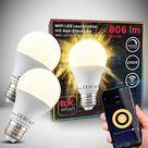 WiFi LED Leuchtmittel E27 9W | 2er Set