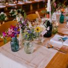 Bright Festival Themed At Home Wedding in a Tipi with Wild Flowers & DIY Decor
