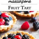 Mascarpone Fruit Tarts with Mixed Berries