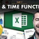 Excel Formulas & Functions Part 7 Date & Time Functions   Chris Dutton   Skillshare