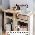 D I Y   Spüle aus Porenbeton  selber bauen