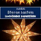 Leuchtende Sterne mit Licht basteln   Gratis Plotterdatei Leuchtsterne
