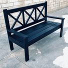 Farm House Porch Bench with X Backs - Jeremy Schuler Woodworking
