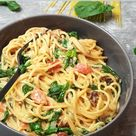 One Pot Spaghetti mit Spinat, Rezept - lydiasfoodblog.de