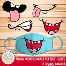 30 MOUTHS FACE MASK Svg Patterns Face Mask Pattern Bundle | Etsy