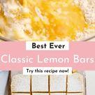 Classic Lemon Bars Recipe - Best Desserts