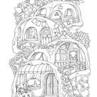 Nice Little Town 6 Adult Coloring Book Coloring pages PDF | Etsy