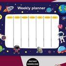 Weekly Schedule Printable Student Hourly Planner Weekly   Etsy