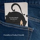 Herman Melville Moby Dick Quote Pocket Notebook, Lined Travel Journal, Traveler Gift for Book Lover