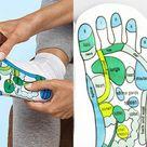 Acupressure Socks Physiotherapy Massage Relieve Reflexology Illustration Socks UJ Size 7/11 Gift Present