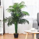 GYMAX LLC Artificial Areca Palm Decorative Silk Tree with Basket 3.5 ft. Holiday Decor
