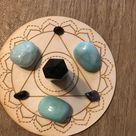 Throat Chakra Crystal Grid