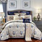Oriental Jacquard Luxury Bedding Set - King size 6pcs