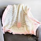 Crochet Crunch Stitch Blanket with Faux Fur Trim - A Free Pattern  — Left in Knots