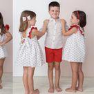 CuKa Comillas Polkadot Frill Girls Dress - 88611 - 4Y