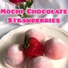 Mochi Chocolate Strawberries 😋🍓 #mochi #strawberries #desserts #summerrecipes