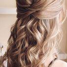 43 Eye Catching Half Up Hairstyles  golden blonde beauty