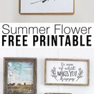 Free Summer Flower Printable Wall Decor | LZ Cathcart
